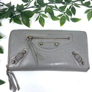 Balenciaga Authentic Grey Zipper Tassel Wallet